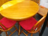 ROUND TABLE AND CHAIRS at Haven Housing Trust's charity shop (WAS £125)
