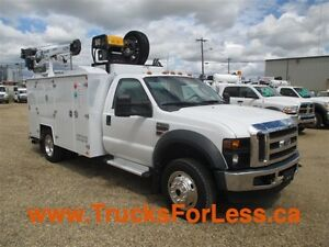 2010 ford F-550 4X4, SERVICE TRUCK + CRANE + AIR COMP.!!!