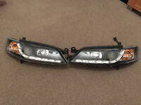VECTRA B HEADLIGHTS AUDIO R8 STYLE DRL LED