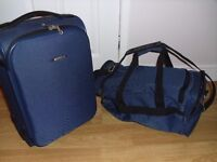 tripp cabin size suitcase and holdall