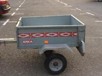 Camping trailer box trailer with cover