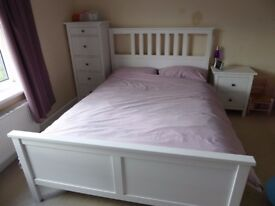 Hemnes (Ikea) Double Bed Frame - White