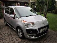 2012 C3 PICASSO VTR+HDI,LOW MILES,55+MPG, £30 ROAD TAX, METALLIC SILVER,LOVELY CAR