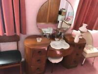 Old antique dressing table walrose 1950s
