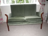 PARKER KNOLL SMALL 2 SEATER SOFA AND CHAIR