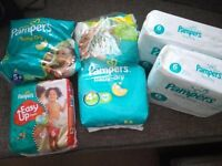 cheap pampers nappies ( different sizes)