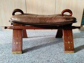 Genuine Camel saddle seat/stool
