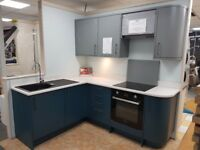 Ex-display kitchen units, granite worktop and appliances