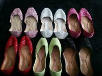 Asian leather flat shoes size 7