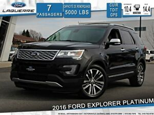 2016 Ford Explorer PLATINUM**4X4*CUIR*TOIT*GPS*CAMERA*FULL !!!**