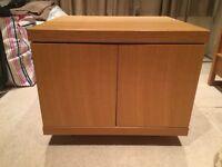 Small light oak cupboard