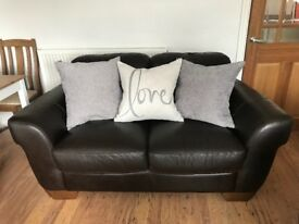 Brown Leather Sofas - COLLECTION ONLY