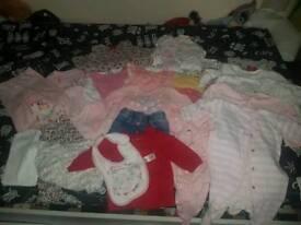 Huge baby girls newborn and 0-3 bundle