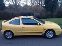 Renault Megane Coupe 2001 6 months mot Alloy Wheels Half Leather CD player Air Con Very Reliable