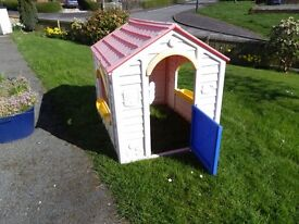 Play House - Plastic. Roof weathered but in very good condition.