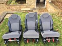 3 Individual Seats for Peugeot 807, Citroen C8 & Fiat Ulysse