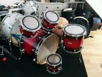 5 piece Mapex M Drum Kit