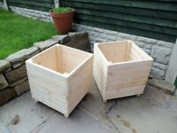 large wood garden planters £25 EACH