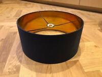 Lampshade - pendant drum lampshade dark blue - 2 available
