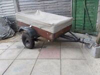 "Trailer size 2""6"" x 4"" with electrics and cover"