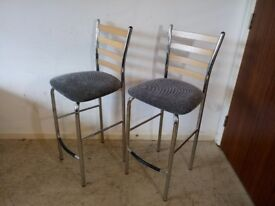 Set of 2 Pair of matching kitchen / breakfast bar stools