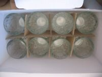 Box of 16 glasses/tumblers unused