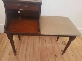 Telephone table hallway table 1980s