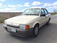 1990 FORD ESCORT CREAM 1.3L 5DR FULL MOT 64K MK4 CLASSIC INVESTMENT BARN FIND