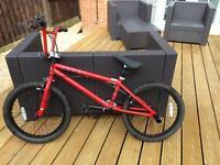 Red BMX bike