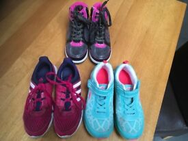 Size 2 junior/adult trainers x 3 pairs for sale in excellent condition