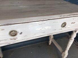 Vintage, French style shabby chic painted console table, hall table, Refurbished - Can Deliver