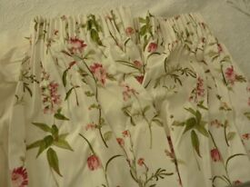 Dunelm 100% Cotton Floral Print Curtains - as new