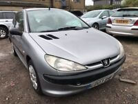 2003 Peugeot 206 diesel, starts and drives well, 1 years MOT (runs out April 2019), car located in G
