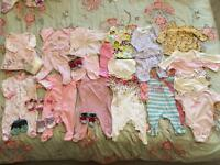 0-3M baby girl bundle over 45 items for £20