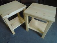 Pine bedside table x 2