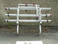 Fiamma 3 bike-cycle rack for motorhome/camper.