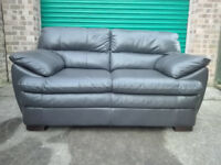 EX-DISPLAY DFS Quentin mocha brown leather 2 & 2 seater sofa settee / free delivery