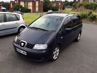 seat alehambra 1.9 tdi diesel automatic 7 syter mot 9 manths tax 3 manths central
