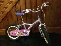 Chidren's bike (purple and pink with butterflies)