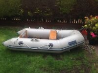 Boat 2man dinghy with outboard