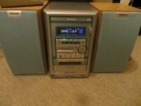 aiwa compact disc stereo system (tape, cd & radio)
