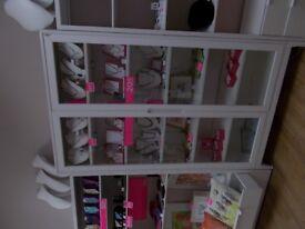 Ikea Regissor glass cabinet Ref:303.420.78