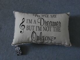 BNWT Cushion John Lennon Imagine Lyrics