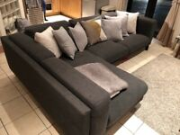 Grey Fabric Corner Sofa - very good condition! Comes in 2 moveable parts - collection only