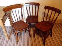 KITCHEN CHAIRS - TRADITIONAL FARMHOUSE STYLE