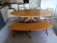 Dining Table with 4 chairs and bencg