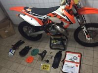 2016 KTM 125 exc low hours