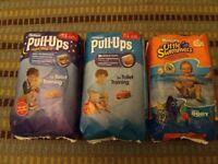 Huggies pull ups and swimming nappies
