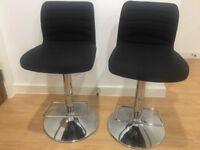 X2 black bar stools