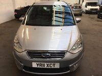 2011 FORD GALAXY ZETEC TDCI.6 SPEED.DIESEL.E/W.A/C.PARKING SENSORS.BRILLIANT DRIVE.FULL HISTORY.